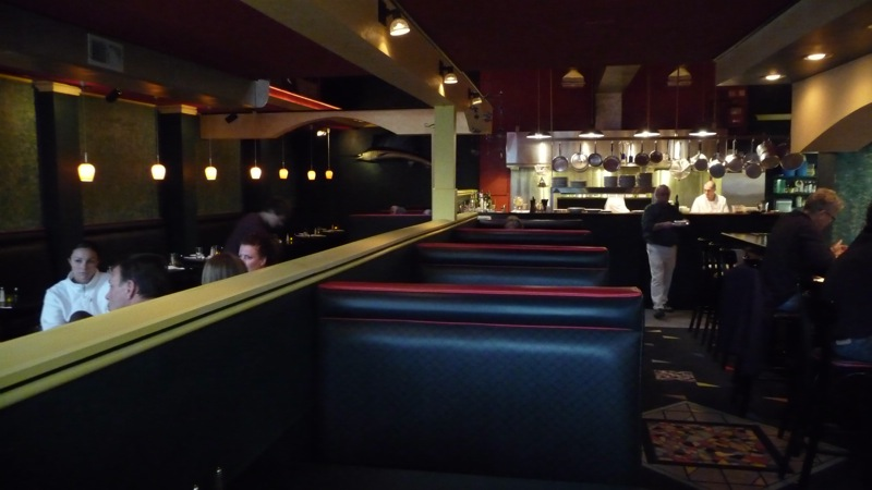 The view from the front entrance, family seating to the left, bar seating to the right