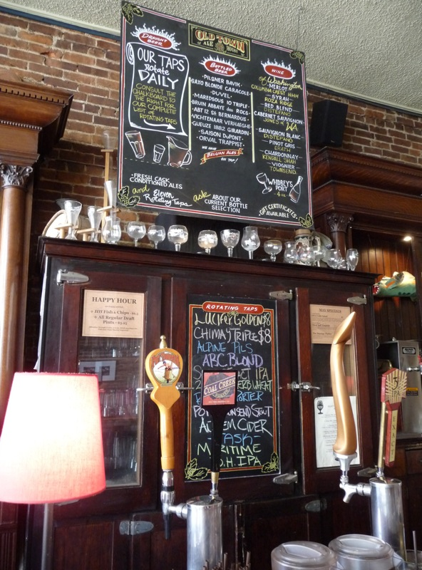 A view behind the bar