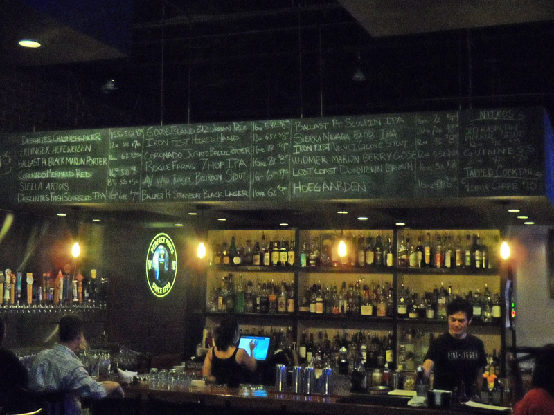 Bar and Chalk Board above