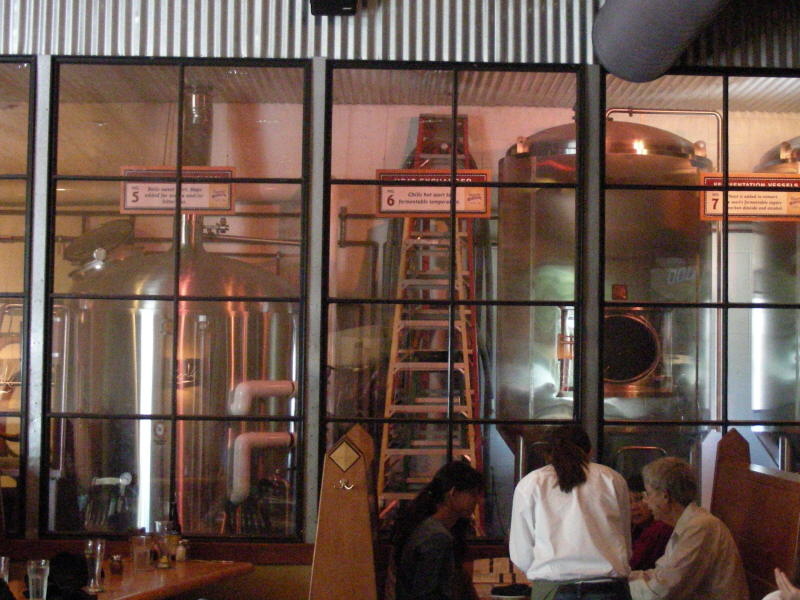 Brewery and dining booths