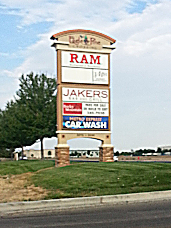 Ram sign on side street