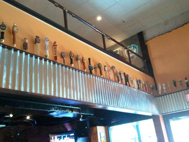 Display tap handles and mezzanine