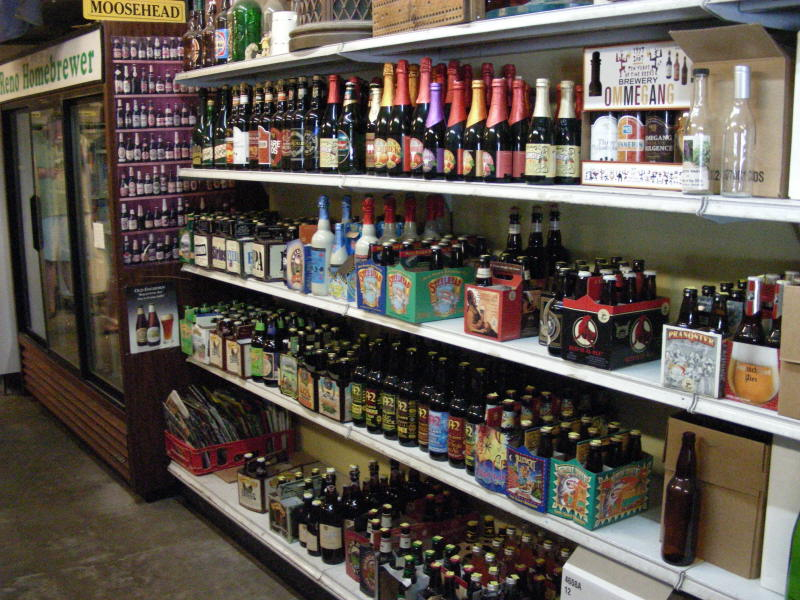 Bottle shelves & cold case