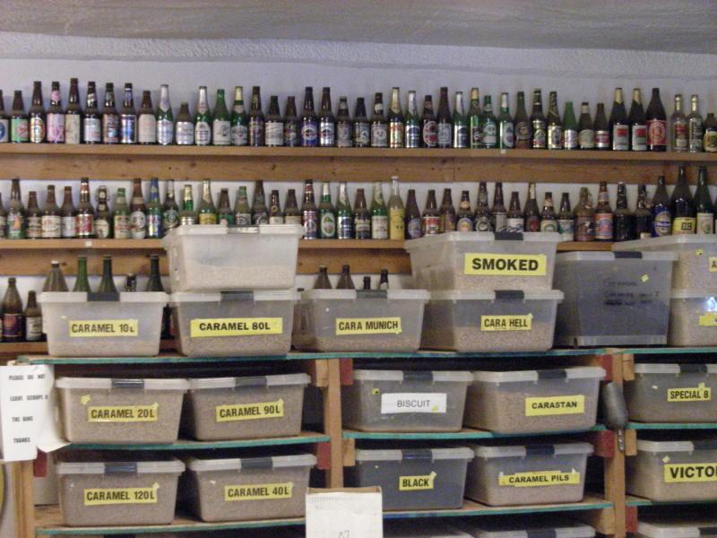 Some malt & bottles