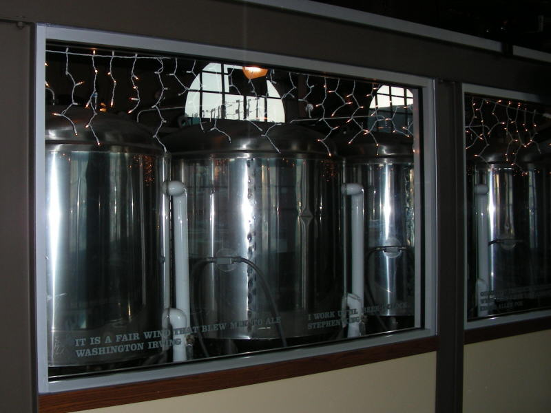 Fermenters between bar & dining area