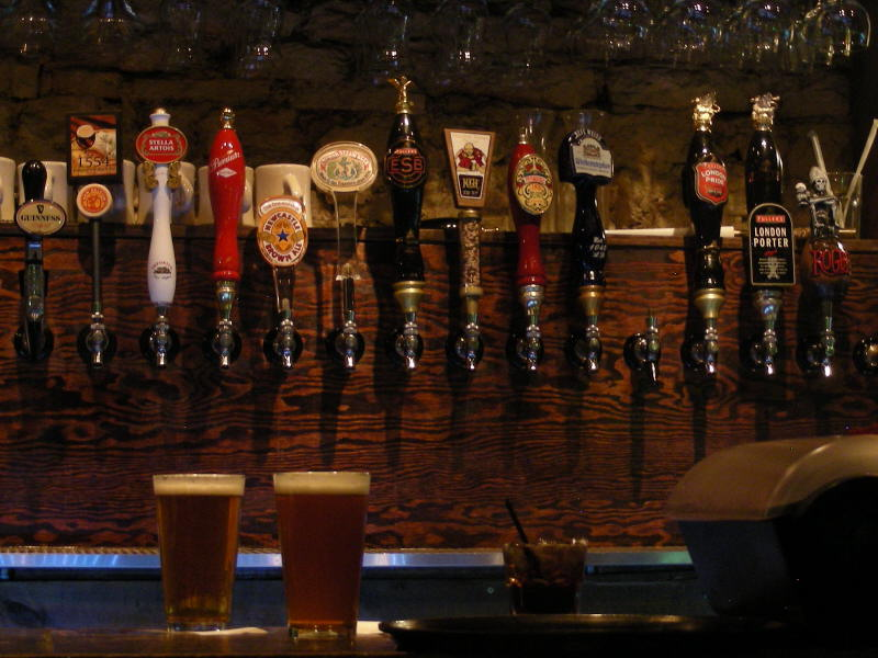 The tap lineup