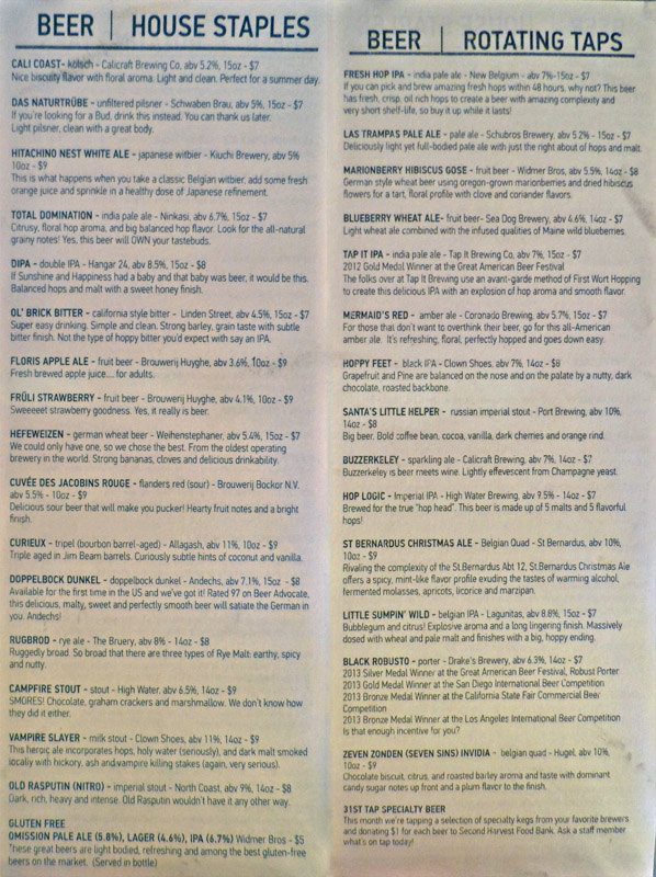 Tap Lists 1113