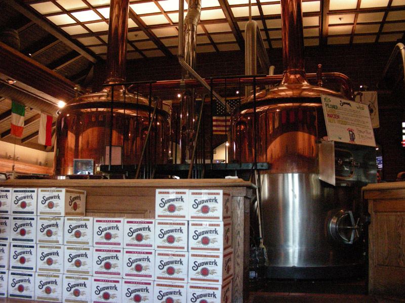 Brewing Kettles at the bar