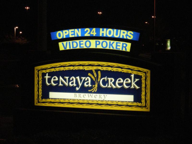 Tenaya Ck sign on the road