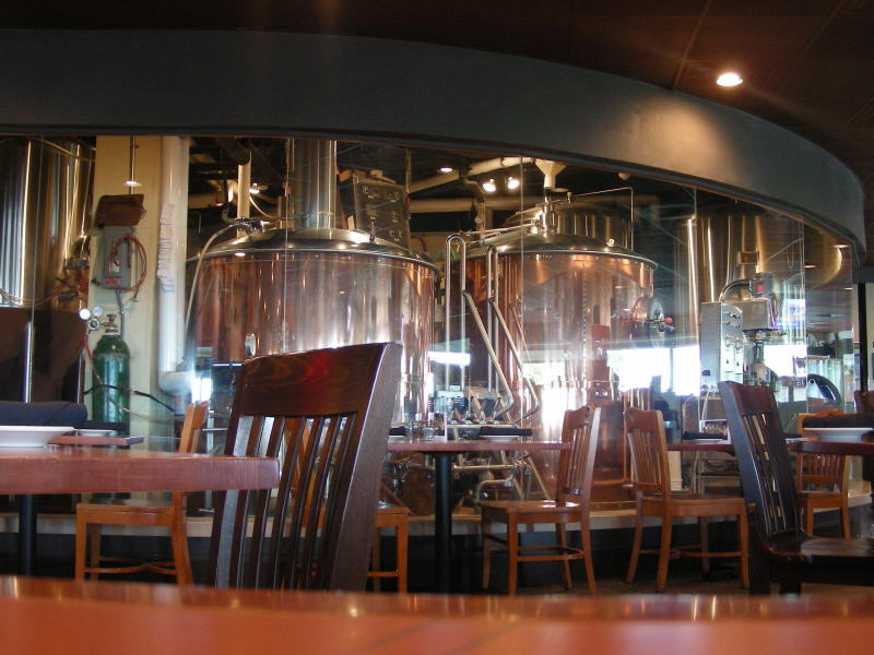Brew Room behind curved glass
