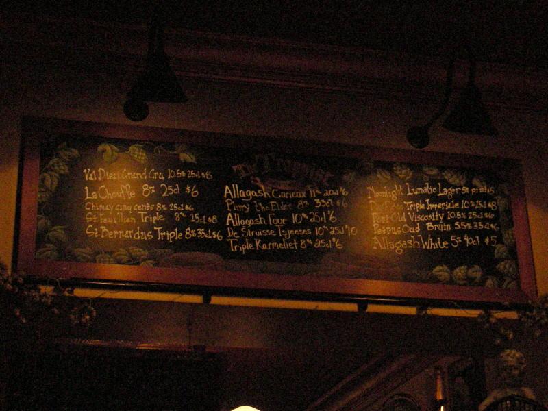Tap List - 02/09
