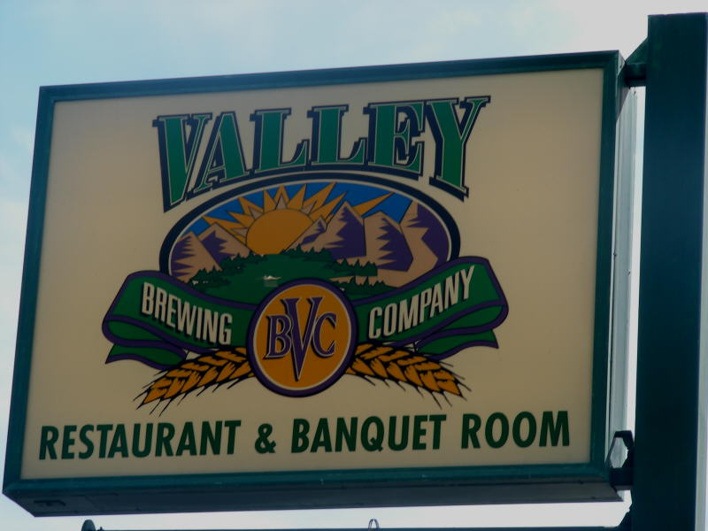 Valley's sign on the street