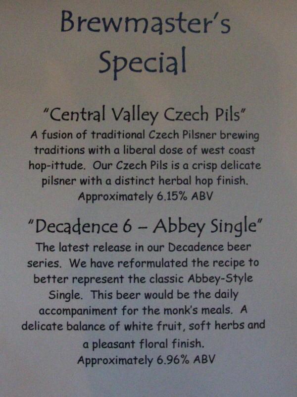 Brewer's specials - 06/08
