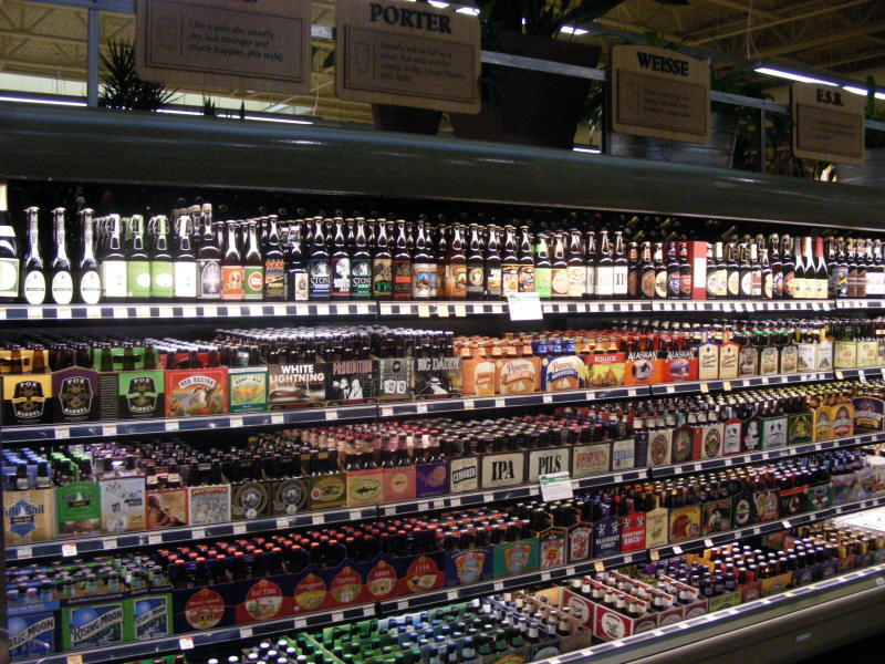 Craft Brew section of cooler