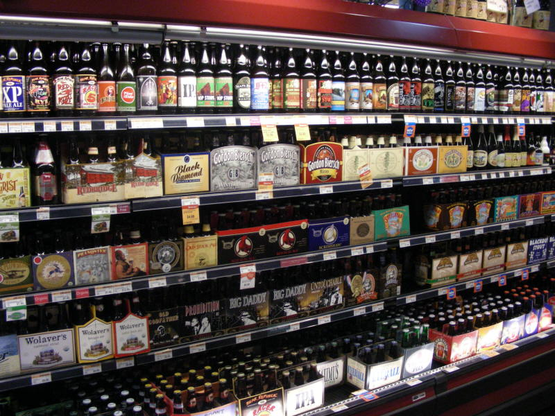 Craft brew section