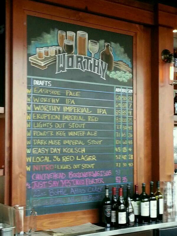 Chalk Board brews list