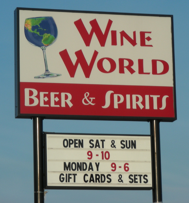 Wine World sign