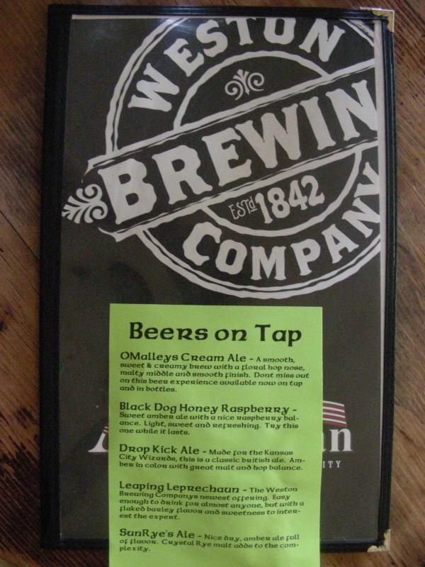 America Bowman tap list - 05/09