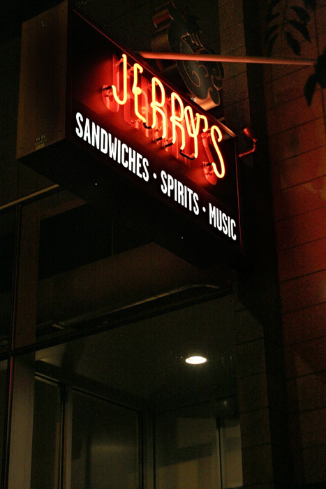 Jerry's at night
