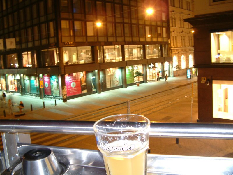 Come for the beer, stay for the view: The terrace at Belge