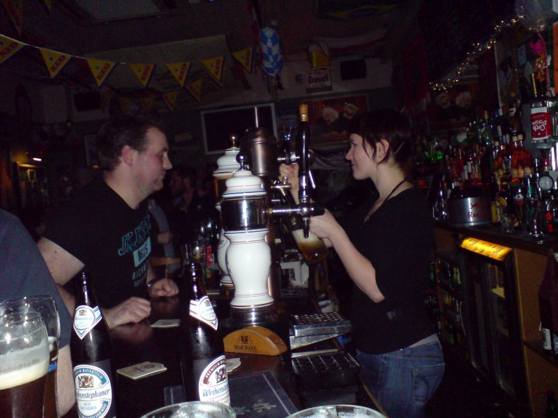 Statler and Warldorf look on: the bar at The Bierhaus