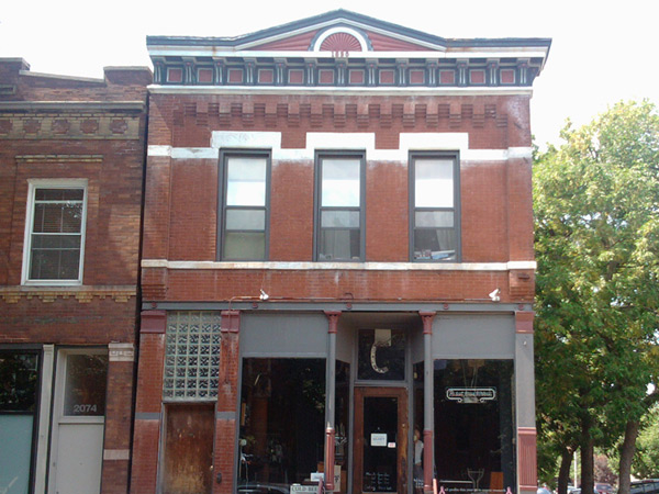 front of building facing Hoyne