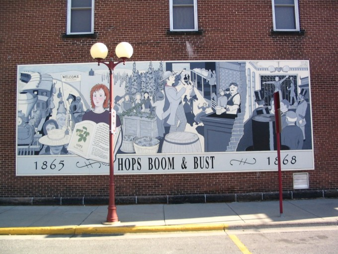Giant Mural on the side of the Corner Pub in Reedsburg