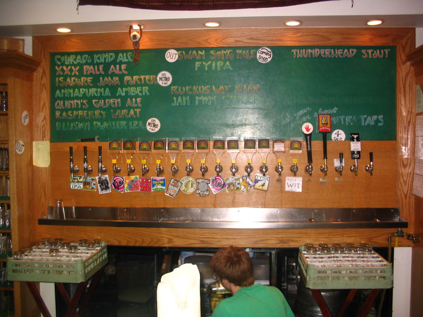 Thirteen Uniquely Named Beers on Tap and one Left Hand Brewing Co - Boulder, CO