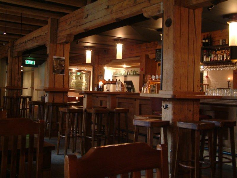 Beaming: The bar at Møllebyen