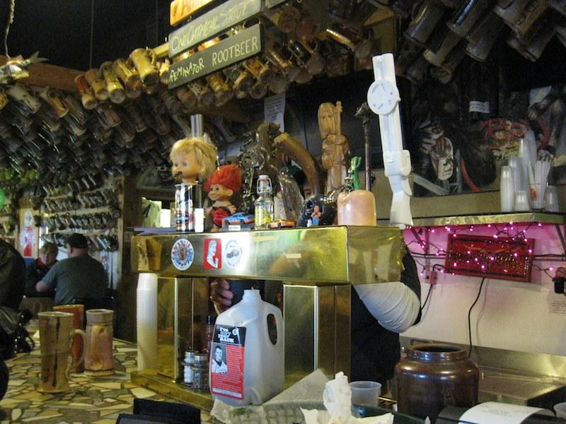 Crazy tap handles at Dark Horse