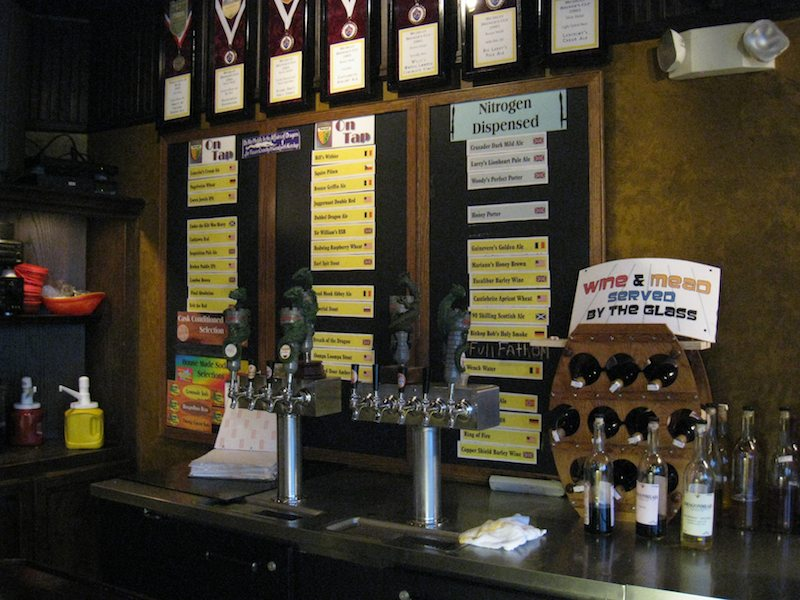 Dragonmead beers on tap for the day