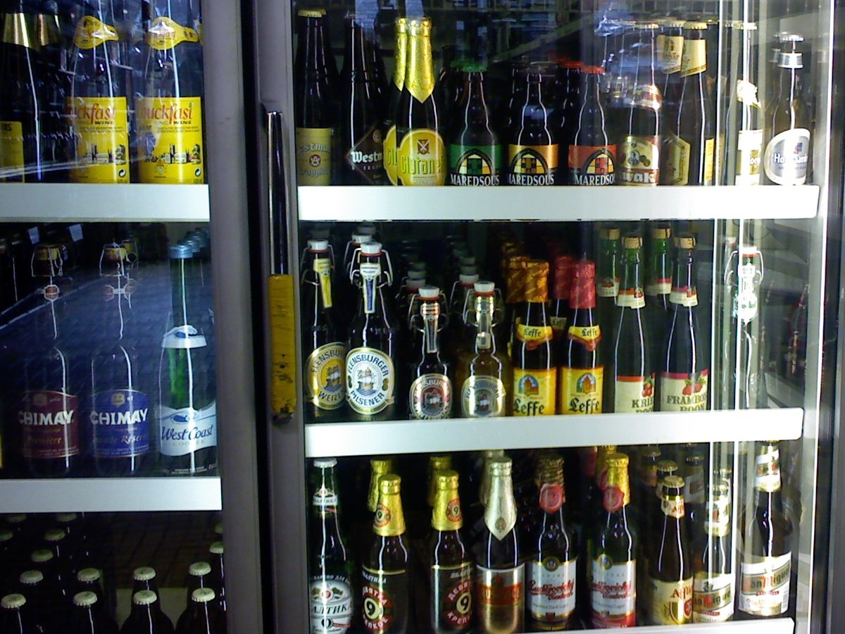 Mixed bag: one of the fridges in Deveney's