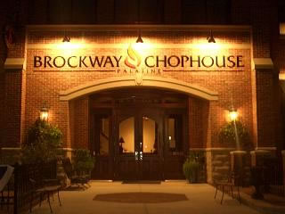 Out Front at night at the Brockway Chophouse
