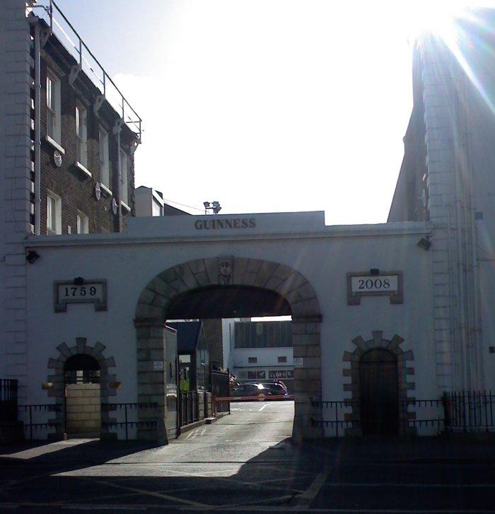 Romantic, as car parks go: St James's Gate