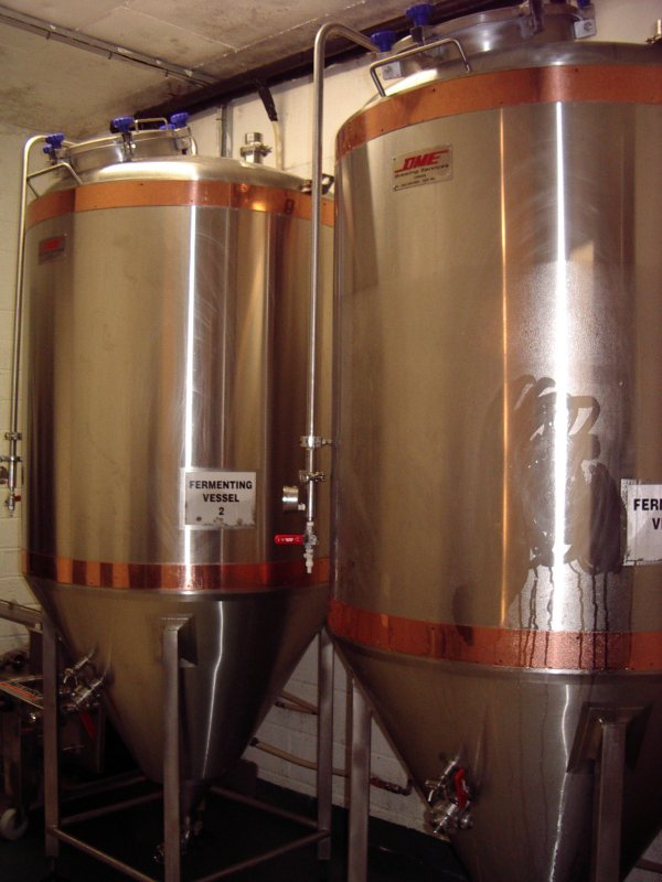 The fermentation vessels at Galway Hooker