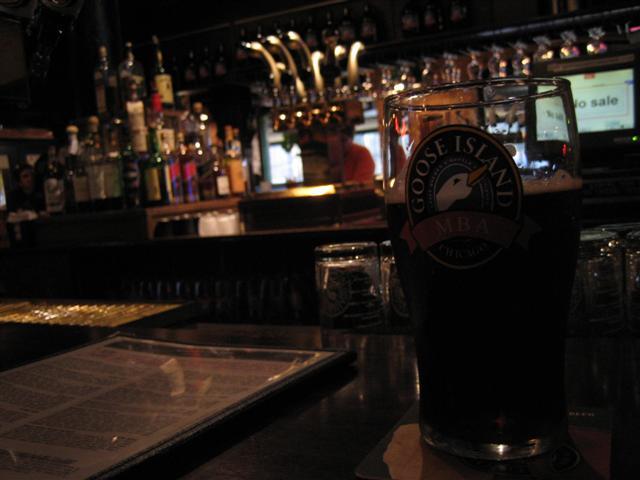 Pint Glass and Bar
