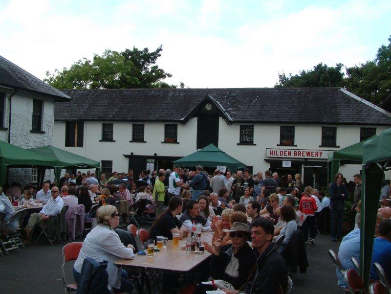 Hilden Brewery yard in festival mode