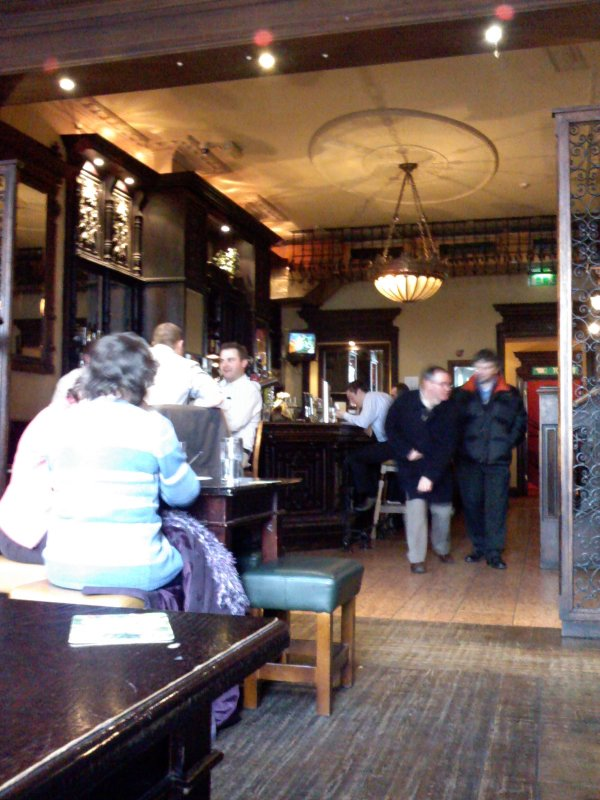 The first floor bar (or second floor, if you're American) at Messrs Maguire