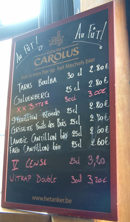 The Moederboard: draught beers at Chez Moeder Lambic