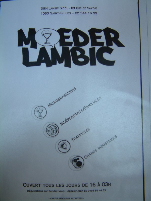 Iconic: each beer on the Chez Moeder Lambic menu has a symbol designating its method of production