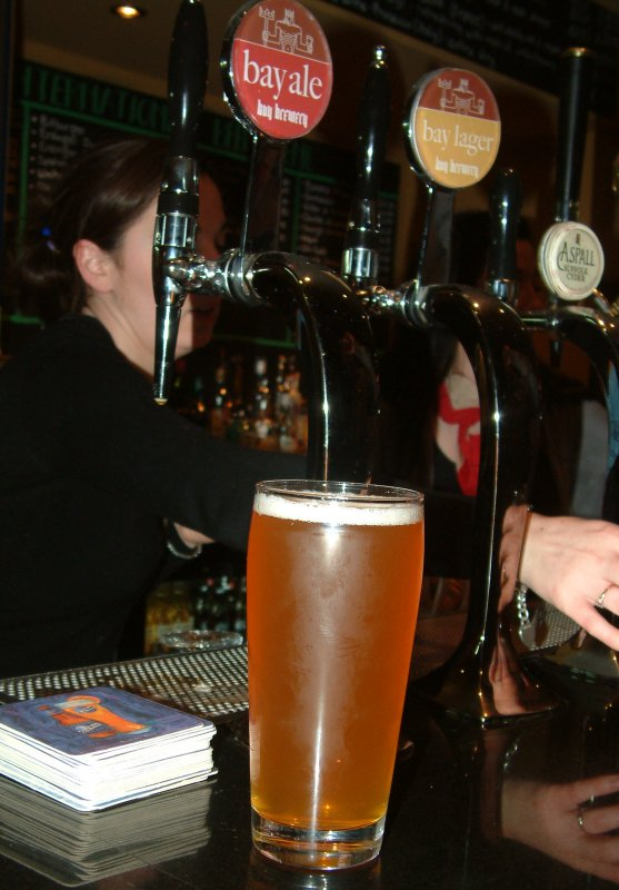 Pint of the local: Bay Lager and the house beer taps