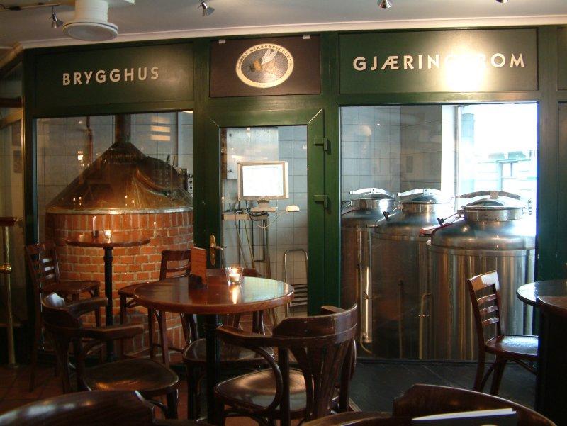 Brewers' corner at Oslo Mikrobryggeri