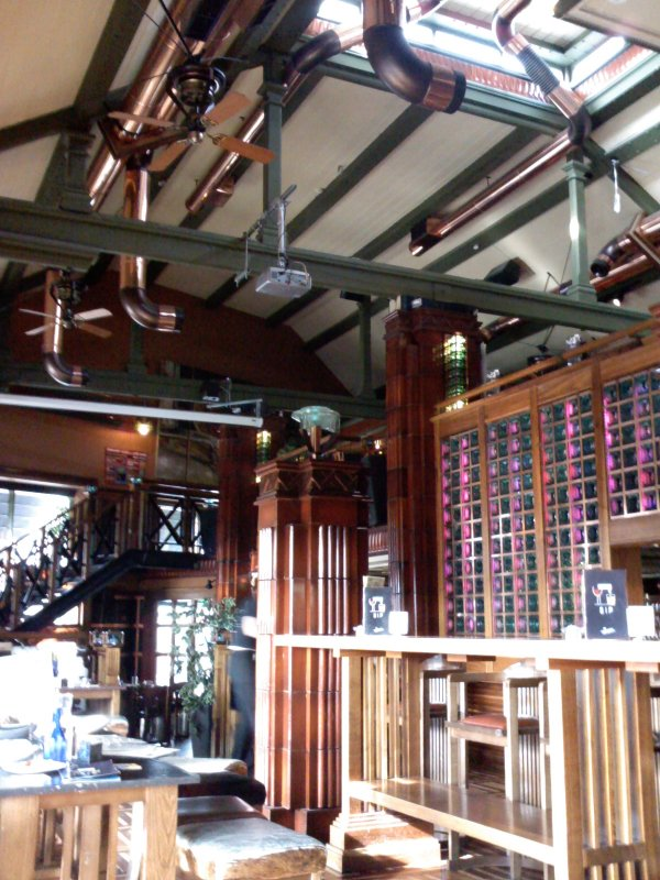 Beaming: the interior at Porterhouse North