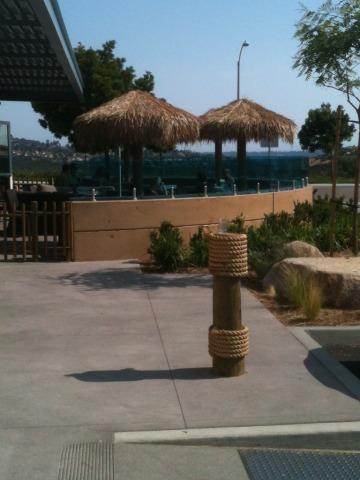 Beer Garden overlooking the parking lot
