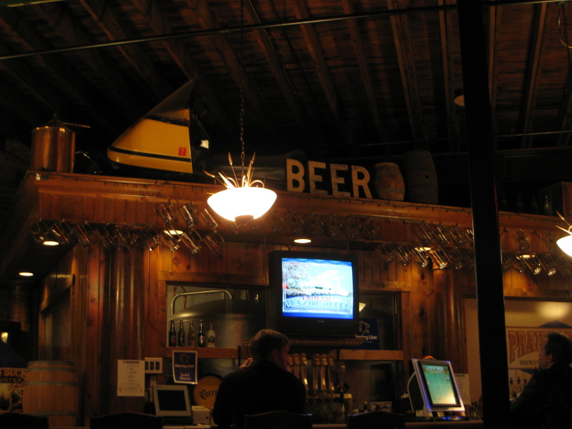 Interior of main bar at Prairie Rock