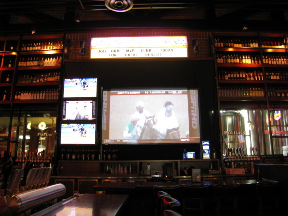 Grand wall in the bar