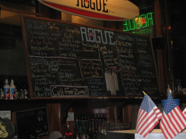The taplist from July 2007