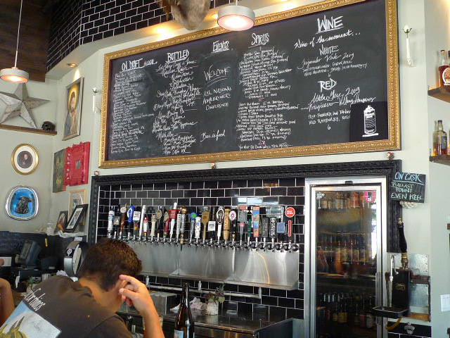 Chalk board & tap handles
