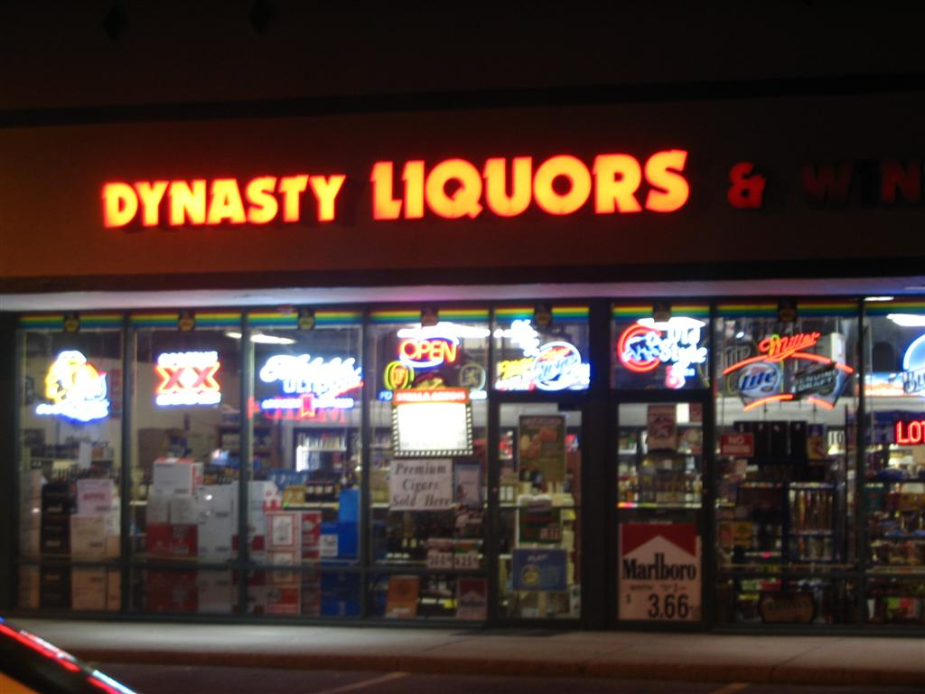 Out front of Dynasty Liquors in Winfield