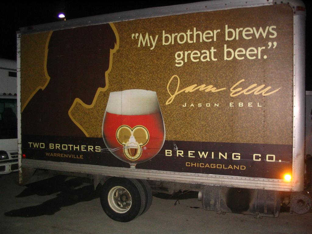 Two Brothers Beer Truck